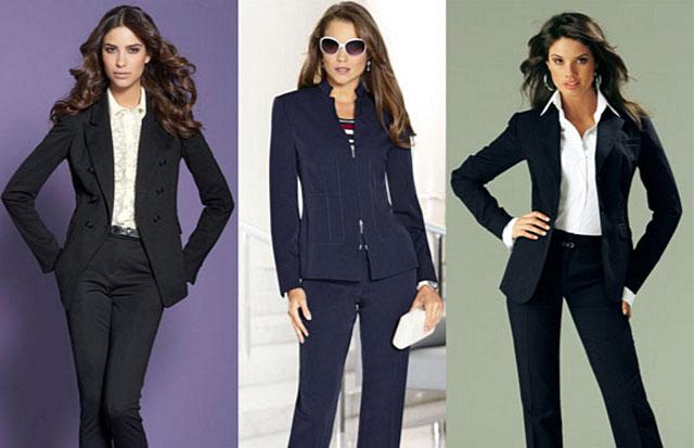 Основные виды женских деловых костюмов: Выбор фасонов
