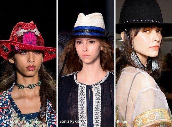 Модные головные уборы для весны и лета 2017