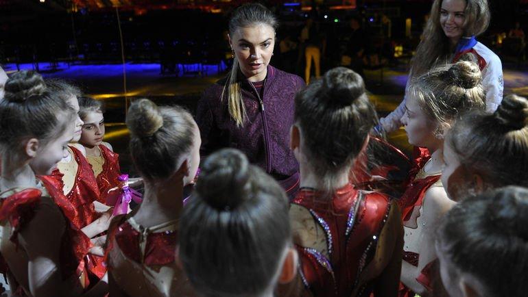 Алина Кабаева на репетиции открытия фестиваля художественной гимнастики
