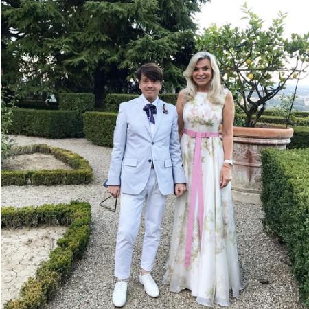 Юдашкины, Ургант, Познер на свадьбе итальянской принцессы Натальи Строцци - Фото №1