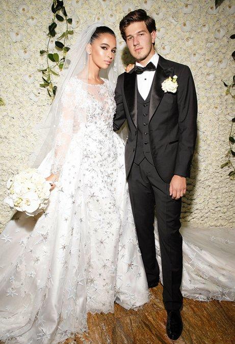 Самые шикарные свадьбы знаменитостей, сыгранные во второй половине лета - Фото №12