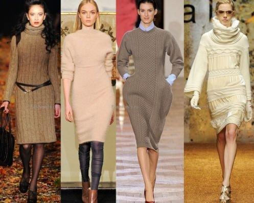 Стильные платья, в которых будет тепло зимой