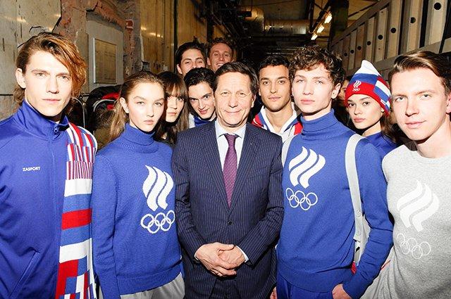 Селебрити на презентации новой формы Олимпийской сборной