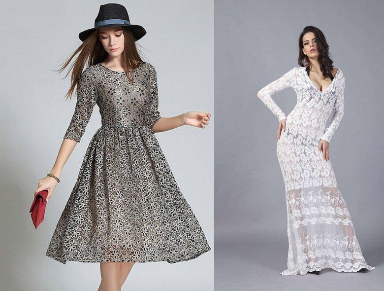 Какое кружевное платье можно надеть на новогоднюю вечеринку