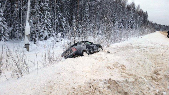 По дороге в Мурманск водитель уснул за рулем и попал в аварию