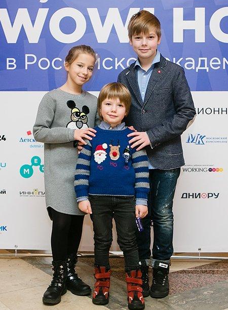 Звёзды и их дети на научной ёлке в Российской академии наук - Фото №6