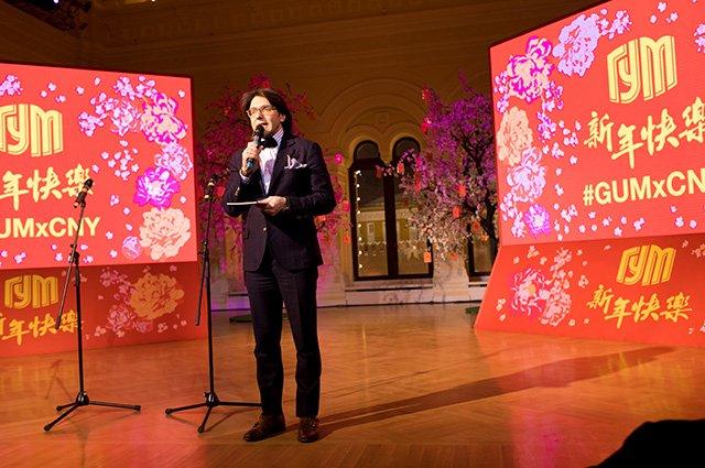 Знаменитости на открытии выставки в честь китайского Нового года в ГУМе - Фото №9
