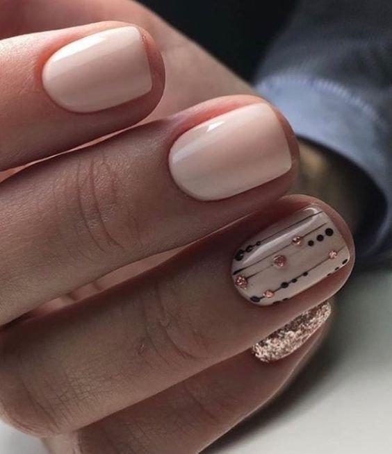 Оригинальные идеи маникюра на короткие ногти к 8 марта