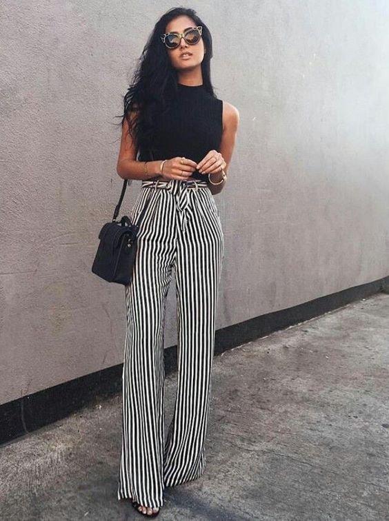 Модные сочетания черного и белого в 2018 году
