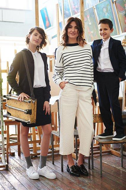 Звёзды и их дети в лукбуке школьной формы от H&M - Фото №7