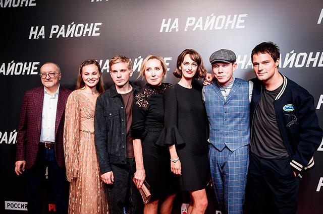 Козловский, Зуева, Ходченкова и другие на премьере фильма «На районе»