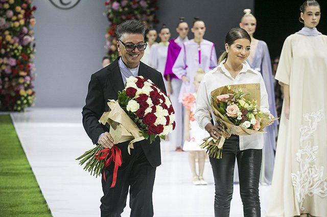 Звёзды на показе новой коллекции Валентина Юдашкина