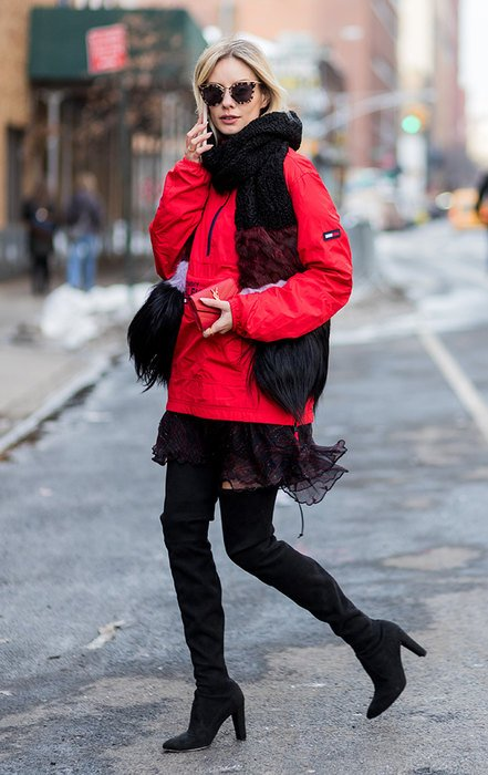 Как носить платья в холодную погоду